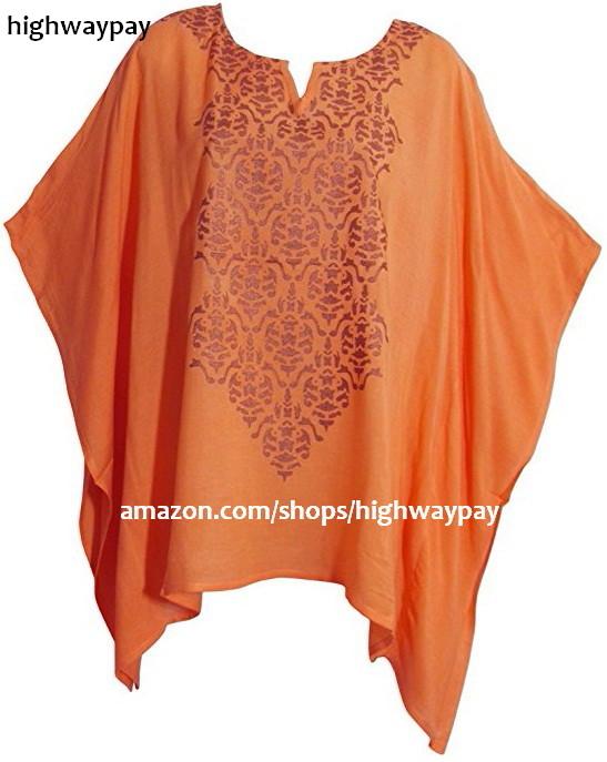 Kimono Sleeve Poncho - Orange