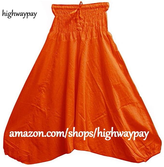 Yoga Harem Pants - Orange