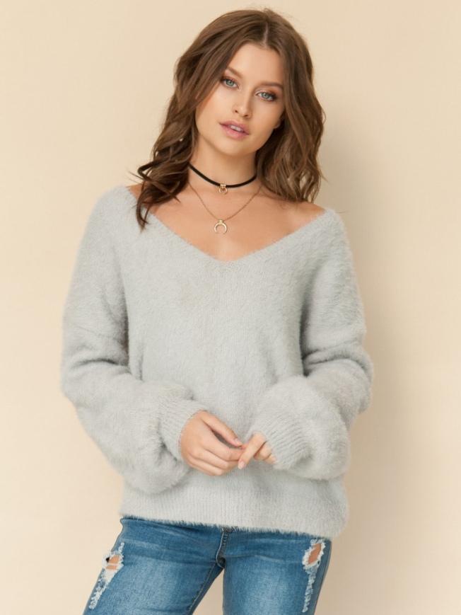 shein-puff-sleeve-fuzzy-jumper